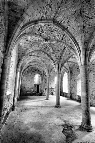Battle Abbey, East Sussex In Black And White