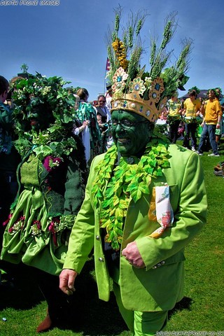Photo taken up on West Hill at Hastings Jack in the Green 2013