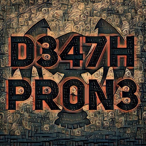 My favourite D347H PR0N3 logo, sadly I didn't design the skull, but everything else is my own work