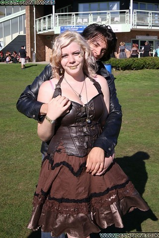 ​My daughter Joanne and her fiance Aaron at the Hastings Steampunk Extravaganza, 2018
