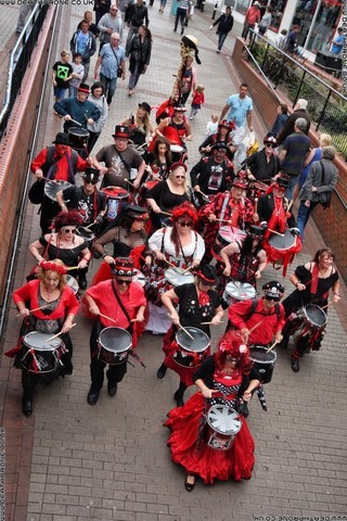 Section 5 Drummers near Hastings Seafront