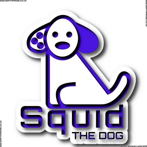 A slightly 3d version of the Squid the dog logo I created